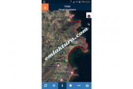 Çanakkale Bozcaada da imarlı Denize Cephe Satılık Arsa